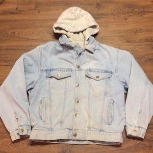 Vintage Eagles Ridge Hooded Denim coat medium